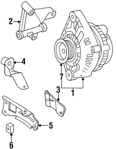 ALTERNATOR MOUNT BRACKET