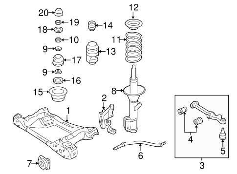 oem suspension components for 2004 pontiac gto