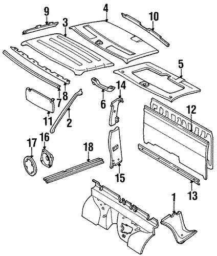 1992 nissan d21 interior parts