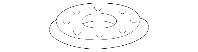 2001 Honda ACCORD SEDAN VP (SIDE SRS) GASKET, BASE - (17574S84A01)