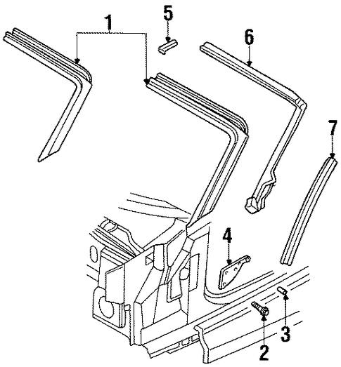 WINDSHIELD HEADER & COMPONENTS For 2001 Chrysler Prowler