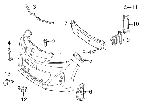 2004 Lexus Rx300 Exhaust System Diagram