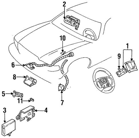 Parts For 2012 Gmc Terrain together with 2005 Nissan Altima Wiring Diagram in addition Chevrolet Silverado 2003 Chevy Silverado Airbag Light as well 97 Buick Riviera Belt Diagram further 1993 Buick Regal Rear Suspension Parts Diagram. on air bag harness repair