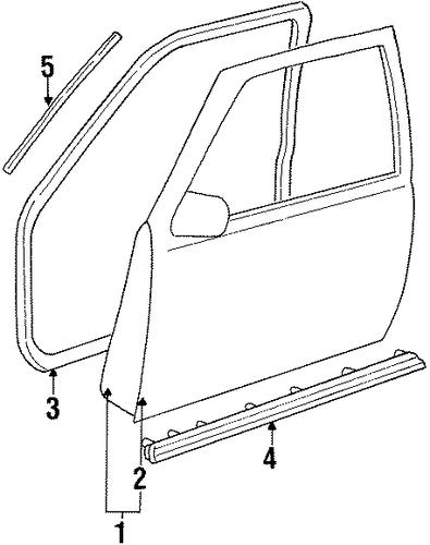 door  u0026 components for 1993 chevrolet k1500 pickup