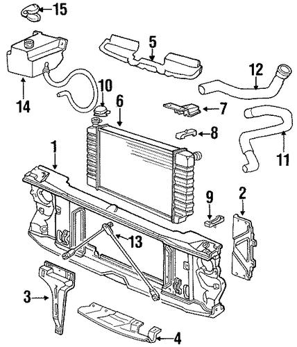 radiator support for 1993 gmc k1500 pickup  sierra