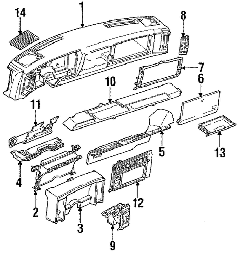 service manual  1994 gmc sonoma dash removal diagram