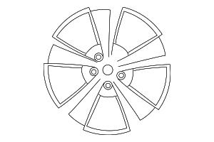 2013 2014 Dodge Challenger Wheel  Alloy 1YA39SZRAB