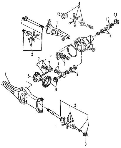 Differential Bearings For 1991 Ford Ranger