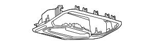 2013-2015 Ford Focus Overhead Console DM5Z-58519A70-AA
