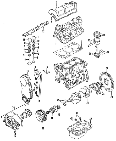 engine parts for 1998 chevrolet metro