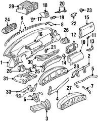 1994-1997 Mercedes-Benz SL320 Lock 129-680-10-84
