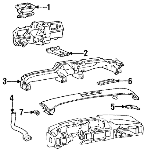 air distribution system for 1996 cadillac fleetwood