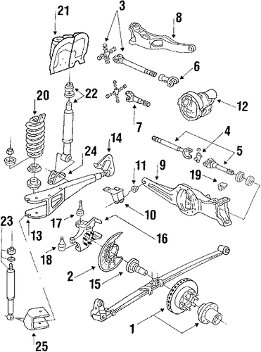 ford 2wd axle pivot bracket installation