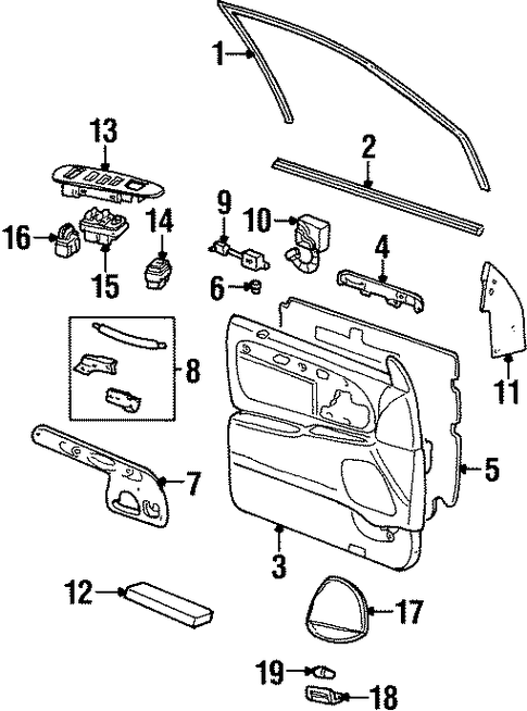 buick rainier parts diagram
