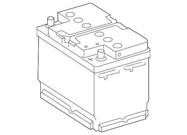 Battery genuine mercedes benz 000 982 33 08 for Mercedes benz battery warranty