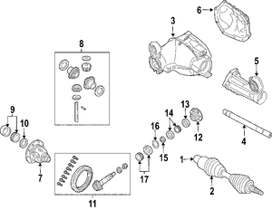 Neutral Safety Switch Location Pt Cruiser besides Toyota Tundra Serpentine Belt Diagram likewise 2001 Lincoln Continental Radiator Change additionally Chevy 10 Bolt Rear End Parts Diagram as well Jeep Jk Exhaust System Diagram. on 2006 jeep grand cherokee front differential