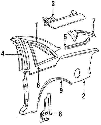 oldsmobile body parts catalog
