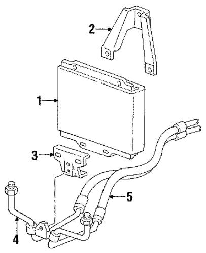 oil cooler for 1990 chevrolet c1500  454 ss