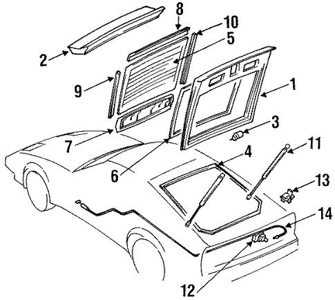 1999 Corvette Seat Diagram