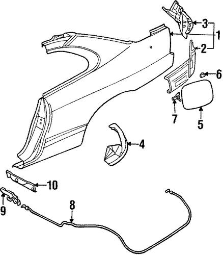 fuel door for 1999 chrysler sebring
