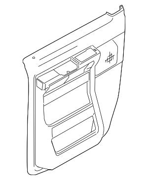 2009-2014 Ford E-150 Door Trim Panel 9C2Z-1523943-AA