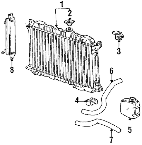 1984 Honda ACCORD HATCHBACK S RADIATOR - (19010PD2674)