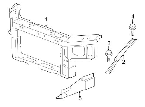 radiator support for 2006 chevrolet impala