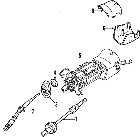 Steering Column Scat on buick struts replacement
