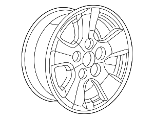2008-2010 Dodge Dakota Wheel  Alloy 1DA88PAKAA