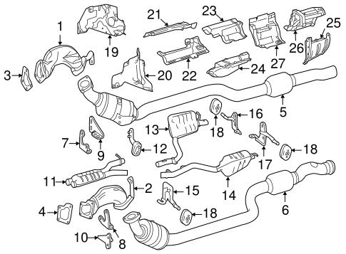 2012-2015 Mercedes-Benz CLS550 Heat Shield 212-682-02-71