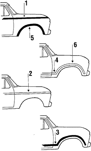 moldings for 1986 ford f