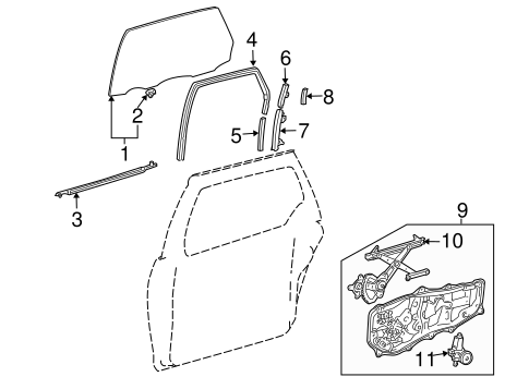 2005 Toyota Sienna Sliding Door Diagram