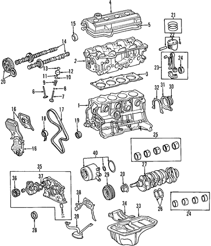 Genuine Oem Engine Parts For 1996 Toyota Rav4 Base