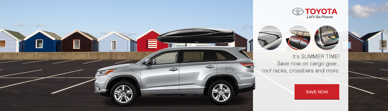 Toyota accessories - cargo, roof racks, and cross bars