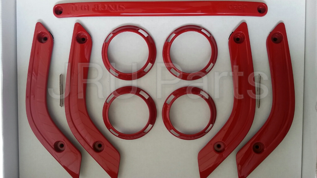 Jeep Wrangler Interior Trim And Knobs 4 Dr Flame Red