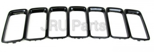GLOSS BLACK JEEP GRAND CHEROKEE GRILL RINGS SET