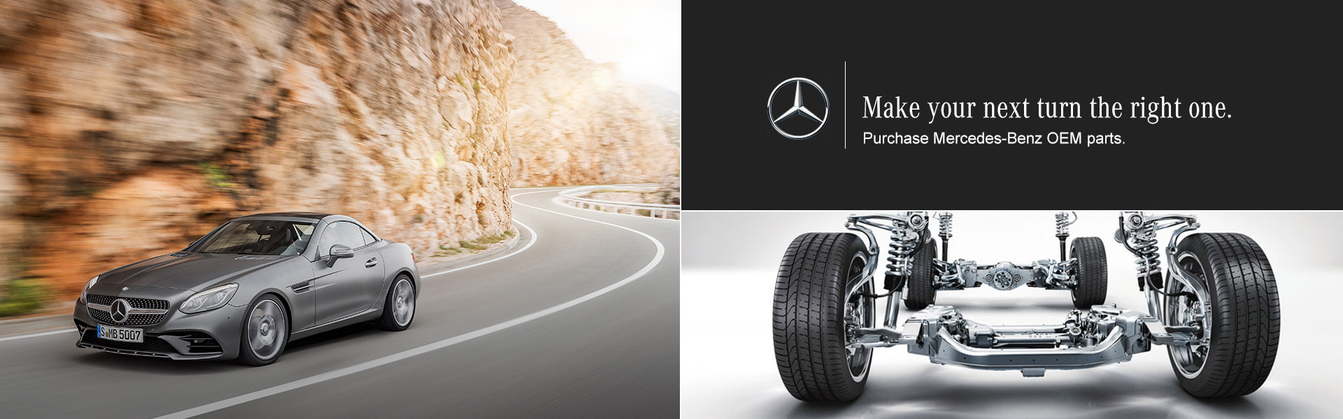 Make the right turn, choose Mercedes Benz OEM Parts