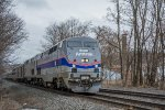 Amtrak 48 with 184 leading through Guy Park