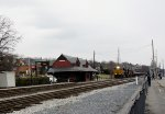 NS 8100 and B&O Station