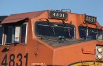 BNSF 4831's odd numbers.