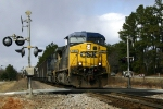 Southbound sits on the crossing