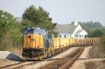 Rail train in the siding