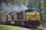 CSX 488 leads this empty hopper train