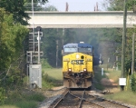 CSX 459 hits the north switch of Roebuck siding