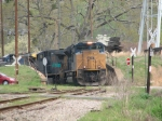 Mar 31, 2007 - CSX 4831 leads V486 thru concrete cut