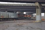 BNSF 7684 & 7655 ready to pull empty ethanol tanks back west