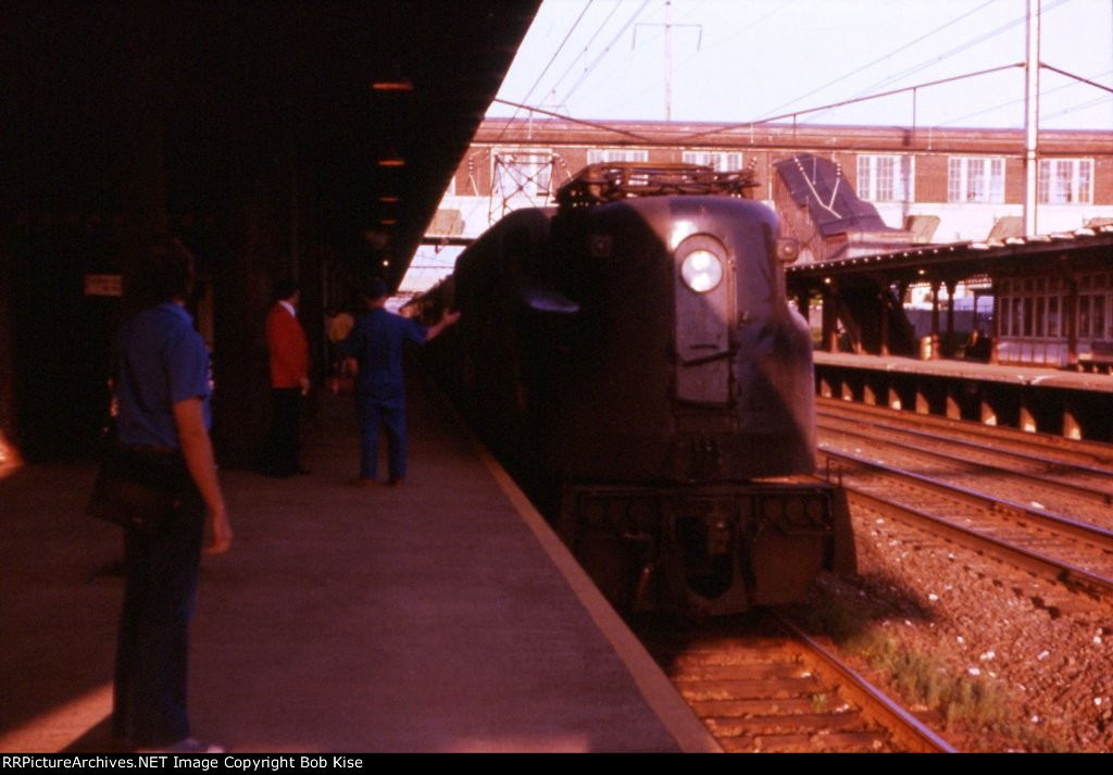 My cousin watches Train 441 pulling into the station