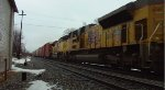 UP 4799, 8349 & 8409 Lead a Westbound NS Mixed Freight