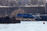 NYNJ 2200 couples to the inbound freight cars