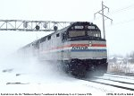 Amtrak in the snow